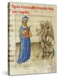 Zoroaster with Two Demons (Miniature from Pseudo-Aristotle Secretum Secretoru)  1425