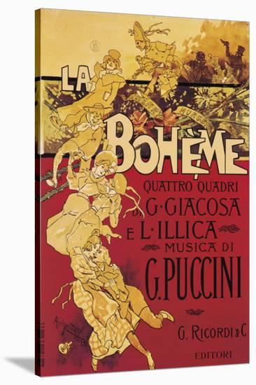 Puccini, La Boheme-Adolfo Hohenstein-Stretched Canvas