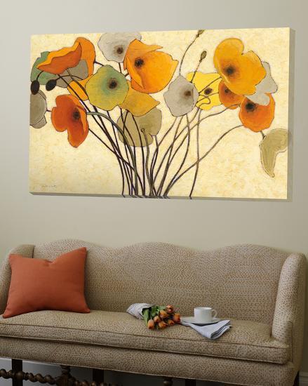 Pumpkin poppies I-Shirley Novak-Loft Art