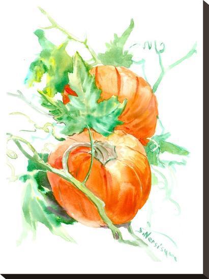 Pumpkin-Suren Nersisyan-Stretched Canvas Print