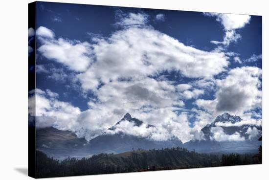 Pyramids Mountains and Clouds-Nish Nalbandian-Stretched Canvas Print
