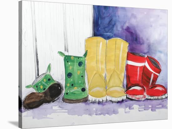 Rain Boots-Terri Einer-Stretched Canvas Print