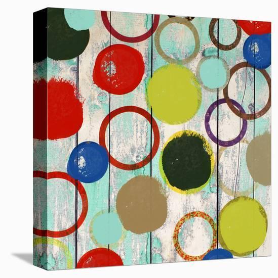 Rainbow Circles II-Yashna-Stretched Canvas Print