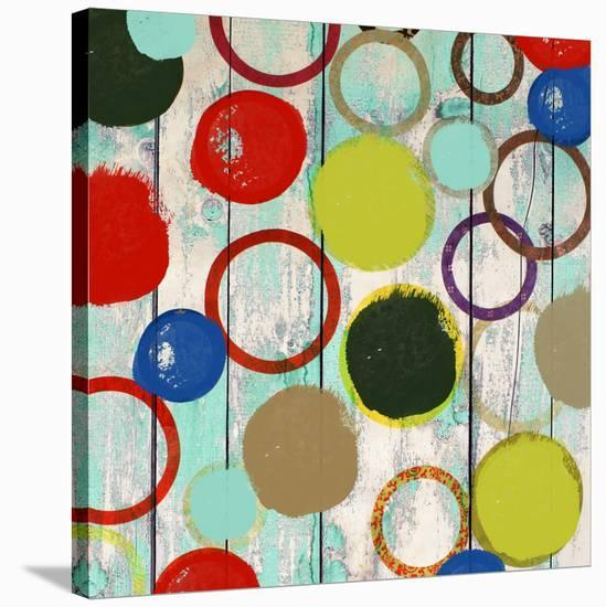 Rainbow Circles II-Yashna-Stretched Canvas Print