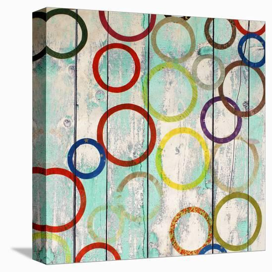 Rainbow Circles IV-Yashna-Stretched Canvas Print