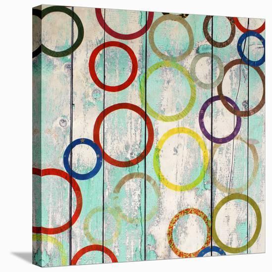 Rainbow Circles IV-Yashna-Stretched Canvas Print
