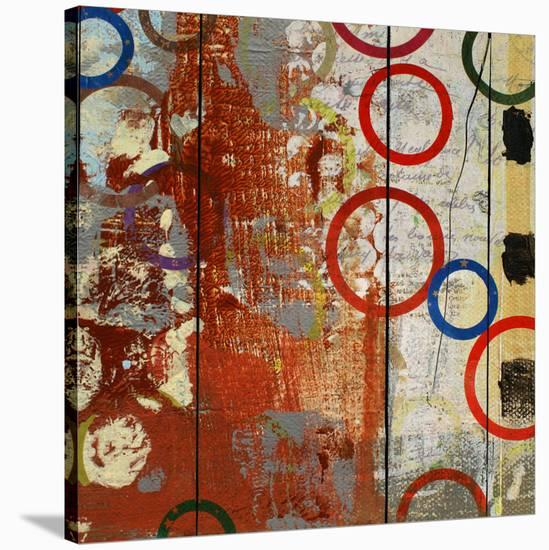 Rainbow Circles V-Yashna-Stretched Canvas Print