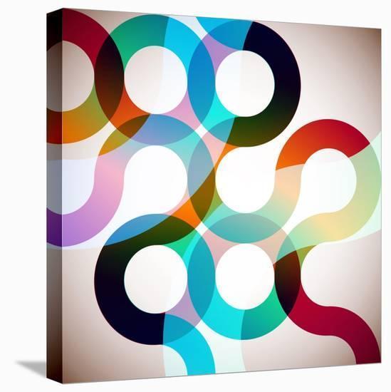 Rainbow Circles-VolsKinvols-Stretched Canvas