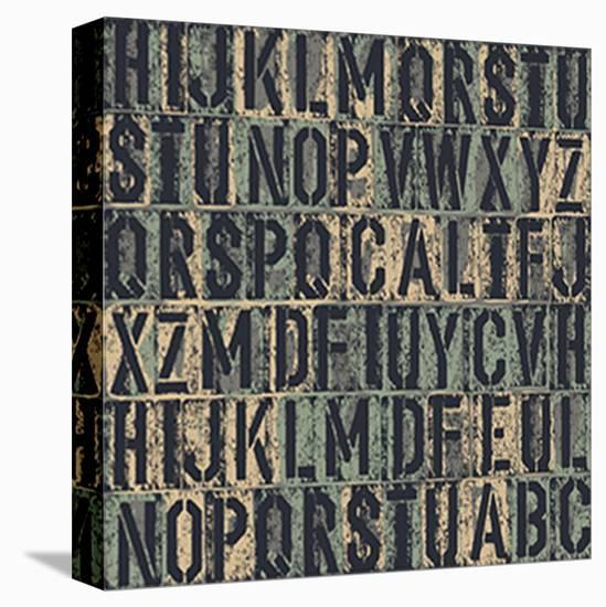 Random Letters--Stretched Canvas Print