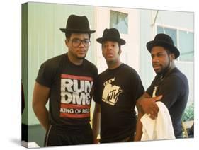 Rap Group Run DMC: Darryl McDaniels, Joe Simmons and Jason Mizell-David Mcgough-Premier Image Canvas