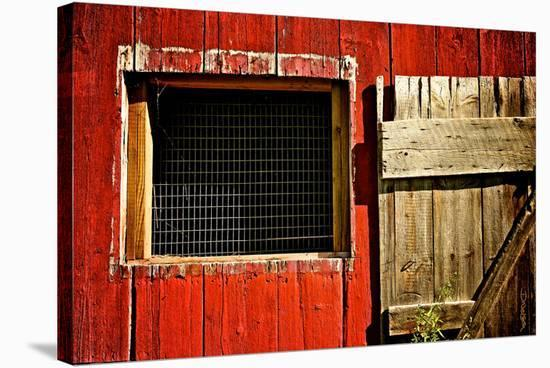 Red Barn-Elizabeth St. Hilaire Nelson-Stretched Canvas Print