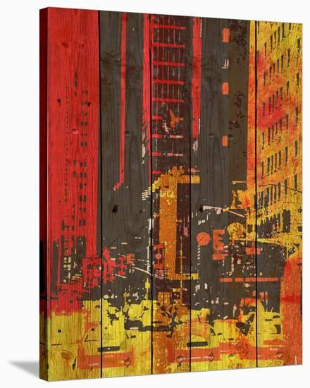 Red Building I-Irena Orlov-Stretched Canvas Print