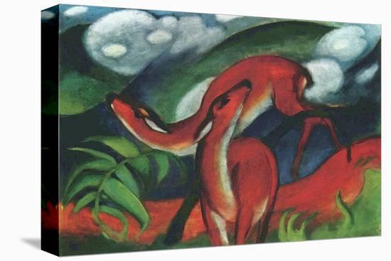 Red Deer Ii Stretched Canvas Print Franz Marc Art Com