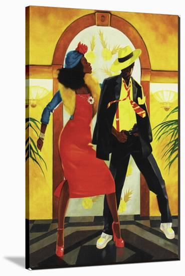 Red Dress-Graham Reynold-Stretched Canvas Print