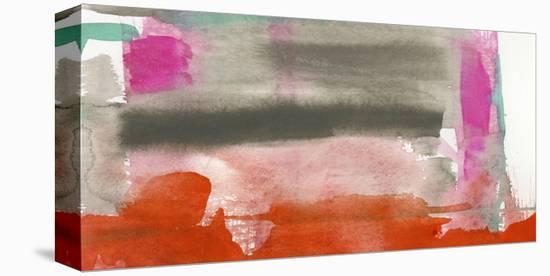 Red, Pink & Grey III-Jennifer Goldberger-Stretched Canvas Print