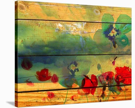 Red Poppies Fields-Irena Orlov-Stretched Canvas Print