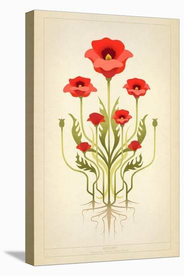 Red Poppies--Stretched Canvas Print
