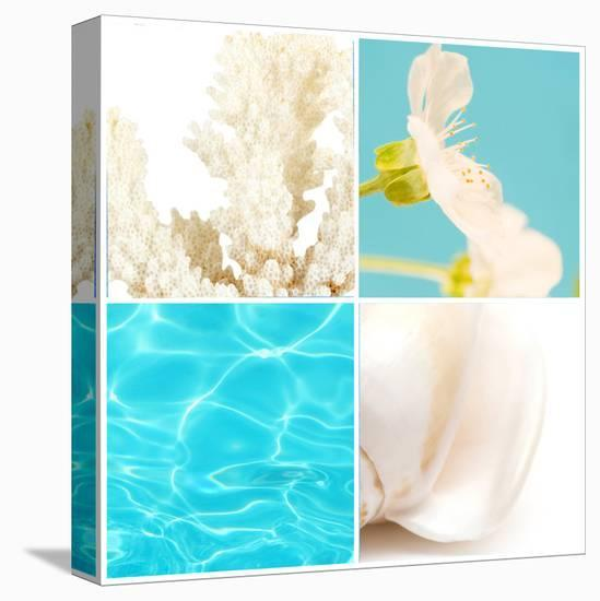 Reflections In Blue--Stretched Canvas Print