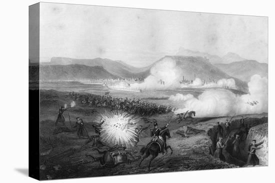 Repulse of the Russians, Battle of Kars, Turkey, Crimean War, September 1855-G Greatbach-Stretched Canvas Print