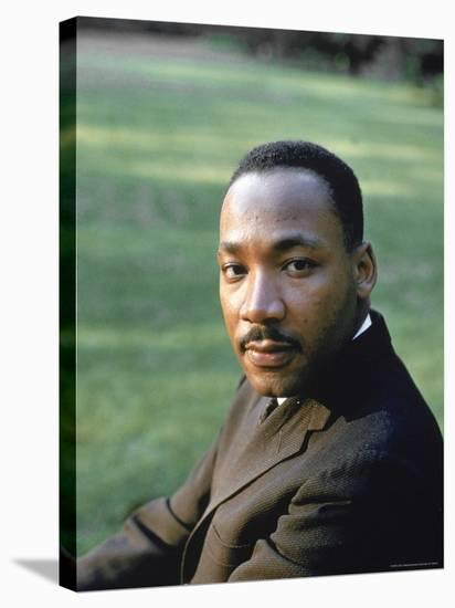Rev. Martin Luther King, at Atlanta University for SCLC Sponsored Student Conf-Howard Sochurek-Premier Image Canvas