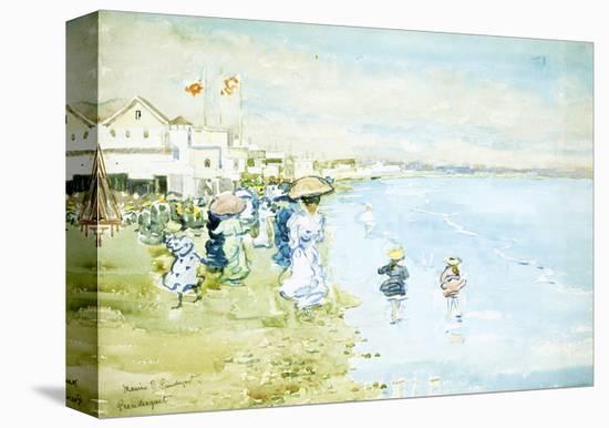 Revere Beach, Boston-Maurice Brazil Prendergast-Stretched Canvas Print