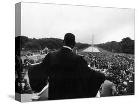 Reverend Martin Luther King Jr. Speaking at 'Prayer Pilgrimage for Freedom' at Lincoln Memorial-Paul Schutzer-Premier Image Canvas