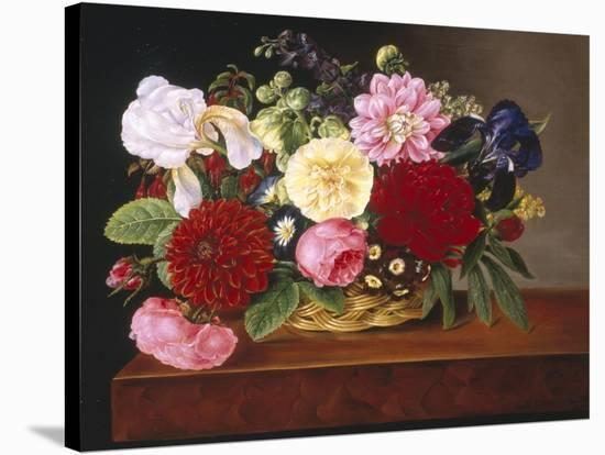 Rich Still Life of Flowers-Mathias Grove-Stretched Canvas Print