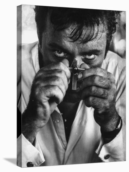 """Richard Burton in a Scene from Motion Picture """"The Night of the Iguana""""-Gjon Mili-Stretched Canvas Print"""