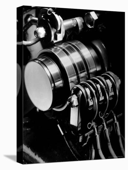 Ringing Machine that Governs the Ringing Bell in Telephones at NY Telephone Exchange Terminal-Margaret Bourke-White-Stretched Canvas Print