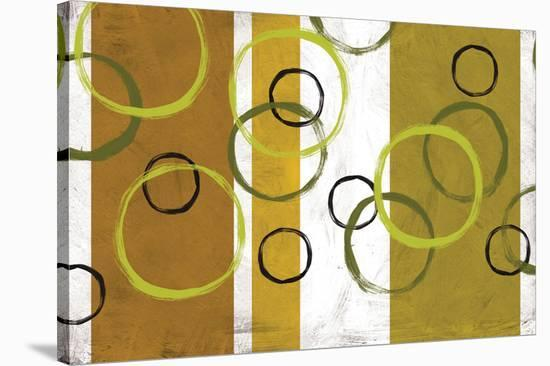Rings & Stripes I-Franz Kandiny-Stretched Canvas Print