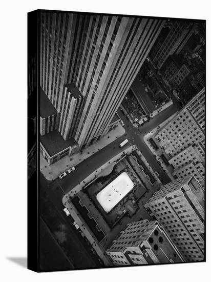 Rockefeller Complex and Skate Rink-Margaret Bourke-White-Stretched Canvas Print