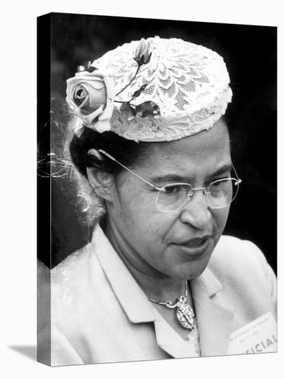 Rosa Parks Woman Who Touched Off Montgomery, Alabama Bus Boycott by African Americans-Paul Schutzer-Premier Image Canvas