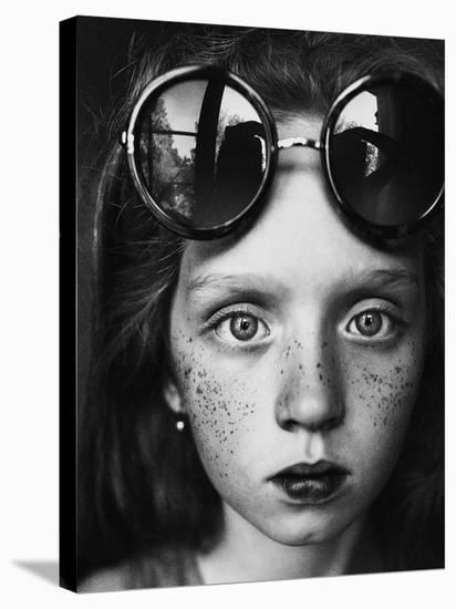 Round Glasses Reflection-Kharinova Uliana-Stretched Canvas Print