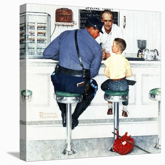 """""""Runaway"""", September 20,1958-Norman Rockwell-Stretched Canvas Print"""