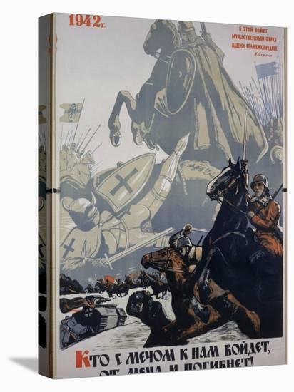 Russian Propaganda Poster--Stretched Canvas Print