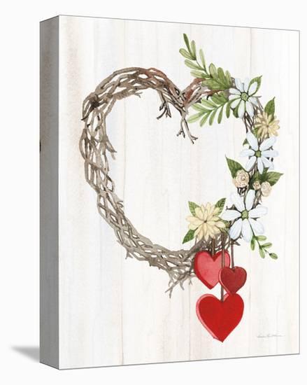rustic cotton arrangement farmhouse decor rustic decor.htm rustic valentine heart wreath ii art print by kathleen parr  rustic valentine heart wreath ii art