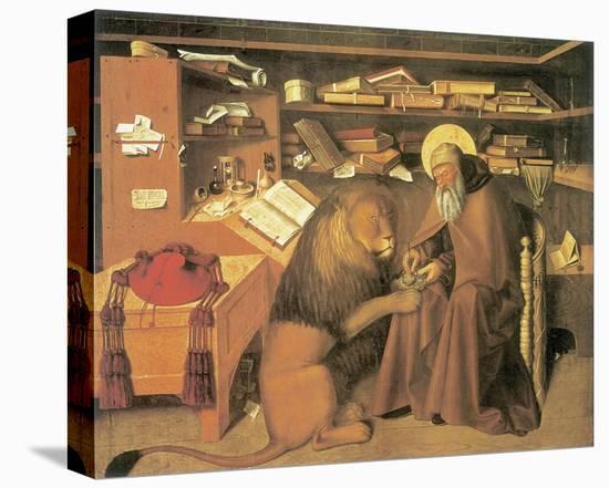Saint Jerome In His Study-Niccolo Antonio Colantonio-Stretched Canvas Print