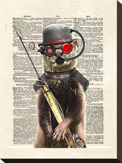 Salty Otter-Matt Dinniman-Stretched Canvas Print