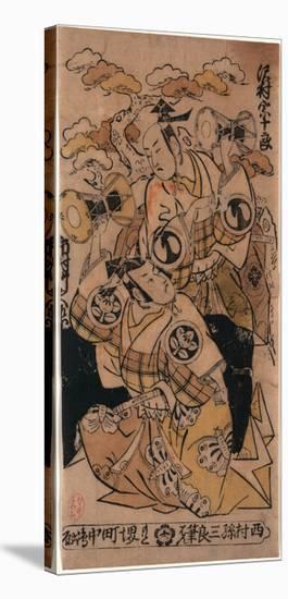 Sawamura Sojuro No Soga No Juro to Ichimura Takenojo No Soga No Goro-Nishimura Shigenaga-Stretched Canvas Print