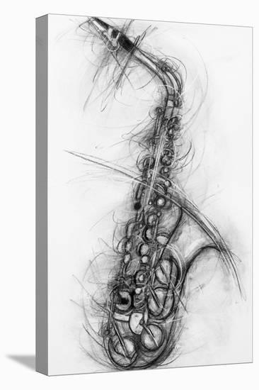Saxophone 2005-Penny Warden-Stretched Canvas Print