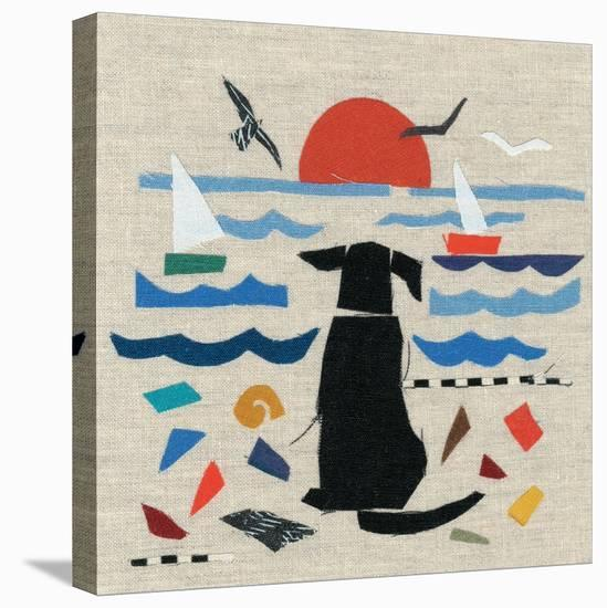 Sea Dog-Jenny Frean-Stretched Canvas Print