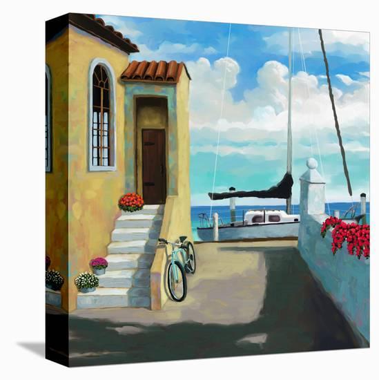 Sea Side Steps-Rick Novak-Stretched Canvas Print