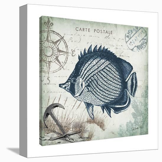 Seaside Postcard: Fish III-Tre Sorelle Studios-Gallery Wrapped Canvas