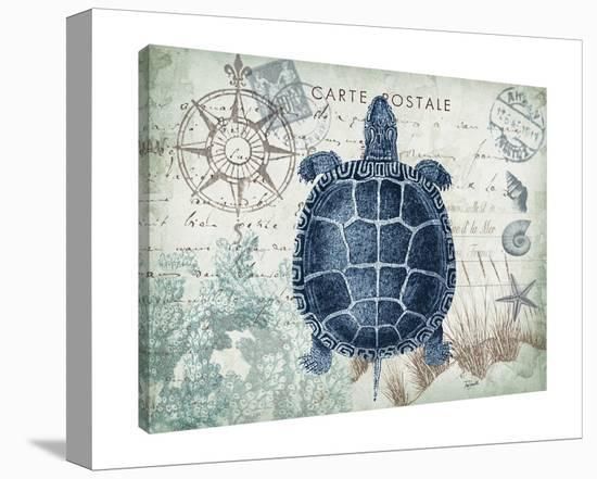 Seaside Postcard: Turtle-Tre Sorelle Studios-Gallery Wrapped Canvas