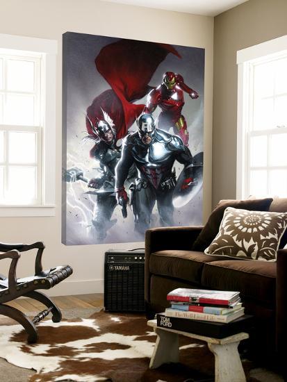 Secret Invasion No.6 Cover: Captain America, Thor and Iron Man--Loft Art
