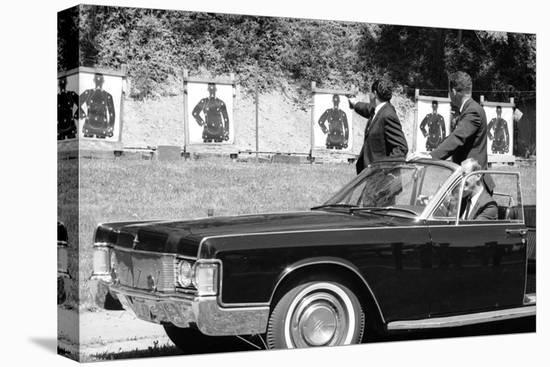 Secret Service Agents in Training, National Aboretum, Washington DC, 1968-Stan Wayman-Stretched Canvas Print