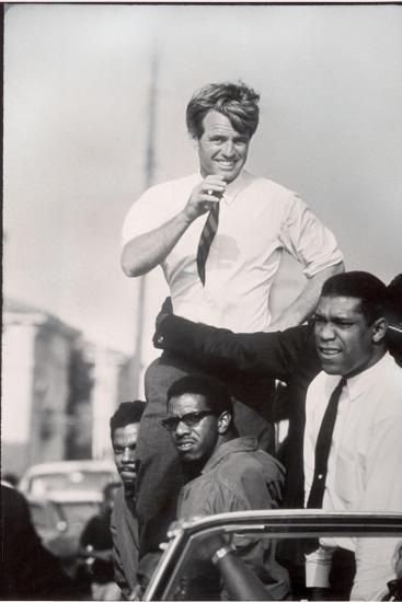 Senator Robert F. Kennedy Campaigning During the California Primary-Bill Eppridge-Stretched Canvas Print