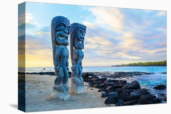 Sentinels of the Big Island Hawaii--Stretched Canvas Print