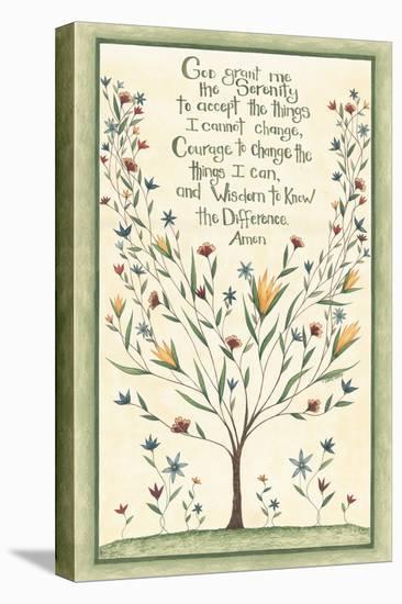Serenity Prayer-Cindy Shamp-Stretched Canvas