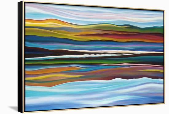 Serenity-Hyunah Kim-Framed Canvas Print